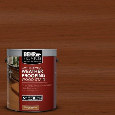 1-gal. #ST-130 California Rustic Semi-Transparent Weatherproofing Wood Stain