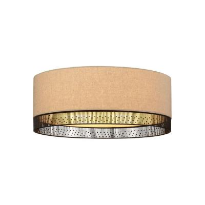 Hollywood Beach 2-Light Bronze Tan Incandescent Flushmount Product Photo