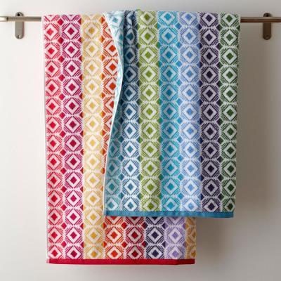 Facets Cotton Fingertip Towel (Set of 2)