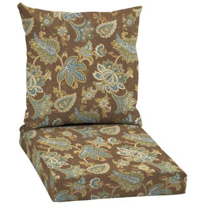 Arden Lakeside Floral 2-Piece Outdoor Chair Cushion-DISCONTINUED