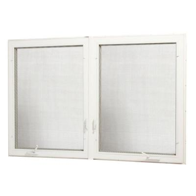 72 in. x 48 in. Vinyl Casement Window with Screen - White Product Photo