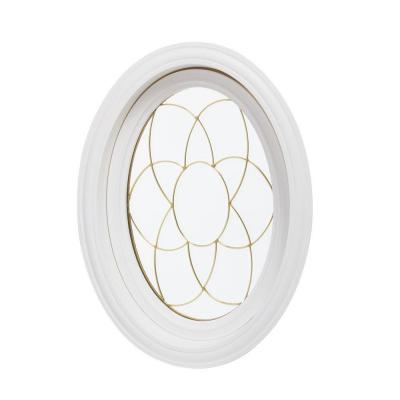 20 in. x 28.5 in. Oval Decorative Picture Vinyl Window - White Product Photo