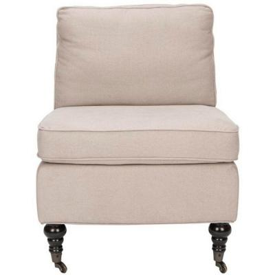 Randy Linen Slipper Chair in Taupe Product Photo