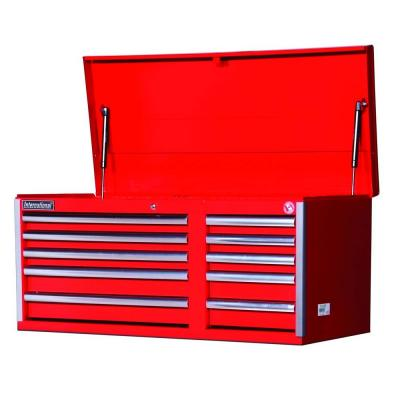 International Tech Series 42 in. 10-Drawer Top Chest, Red