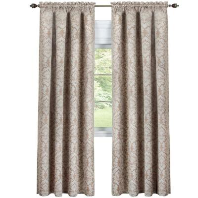 Tan Sutton Curtain Panel - 52 in. W x 84 in. L Product Photo