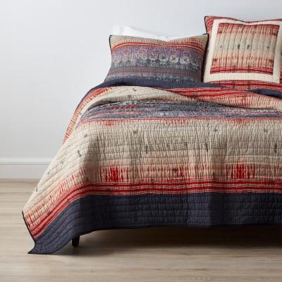 Kamala Striped Cotton Blend Quilt