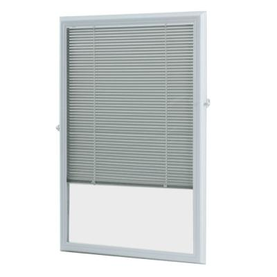 ODL 22 in. x 36 in. Add-On Enclosed Aluminum Blinds in White for Steel & Fiberglass Doors with Raised Frame Around Glass