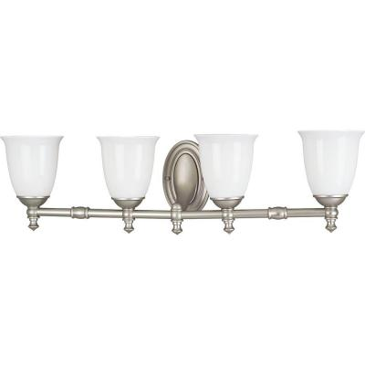 Progress Lighting Victorian Collection Pearl Nickel 4-light Vanity Fixture P3041-06