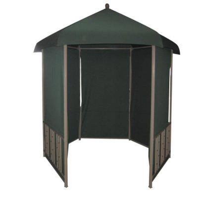 DC America 11 ft. x 11 ft. Gazebo Steel Hexagonal with Pull Down Shades