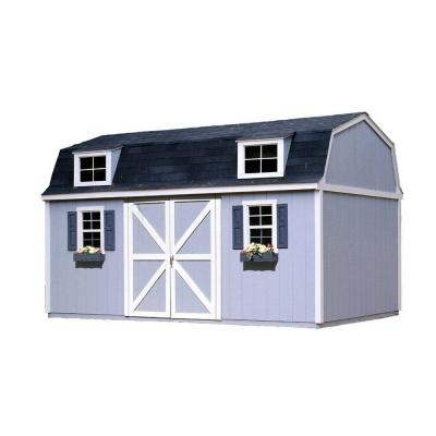 Berkley 10 ft. x 16 ft. Wood Storage Building Kit with Floor Product Photo