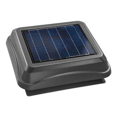 28 Watt Solar-Powered Weathered Wood-Look Surface Mount Attic Vent Product Photo