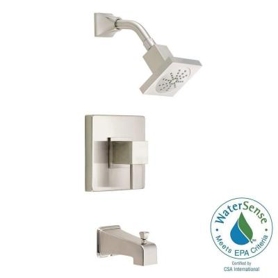 Reef 1-Handle Pressure Balance Tub and Shower Faucet Trim Kit in Brushed Nickel (Valve Not Included) Product Photo