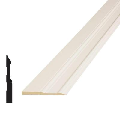 5/8 in. x 5 in. x 96 in. MDF Primed Fiberboard Base Moulding Product Photo