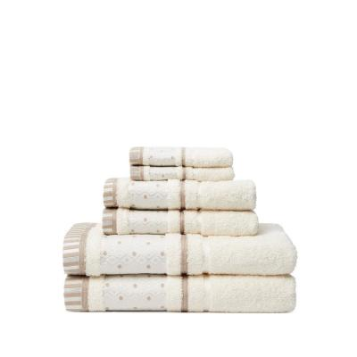 Balio 6-Piece 100% Turkish Cotton Bath Towel Set