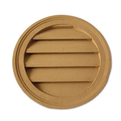 24 in. x 24 in. x 1 5/8 in. Polyurethane Timber Decorative Round Louver Product Photo