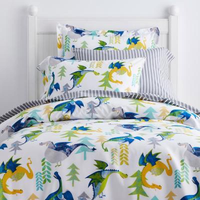 Dragons 200-Thread Count Organic Cotton Percale Duvet Cover