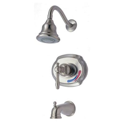 Glacier Bay Lyndhurst 1-Handle Tub and Shower Faucet in Brushed Nickel