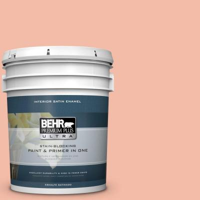 5 gal. #HDC-CT-14A Sunkissed Apricot Satin Enamel Interior Paint
