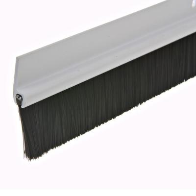 Frost King E/O 1-1/2 in. x 36 in. White Plastic and Brush Door Sweep