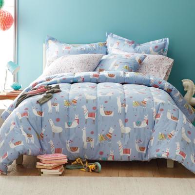 Lovely Llamas 200-Thread Count Cotton Percale Comforter