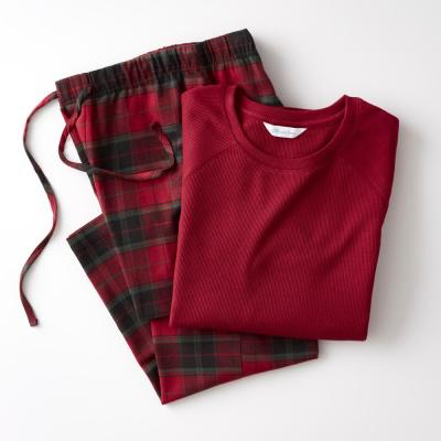 Family Flannel Company Cotton™ Men's Pajama Set in Red Plaid