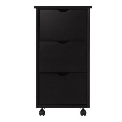 Home Decorators Collection Stanton Black 3-Drawer Chest-DISCONTINUED