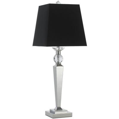 Candice Olson Collection, Clark 33.5 in. Chrome Table Lamp with Black