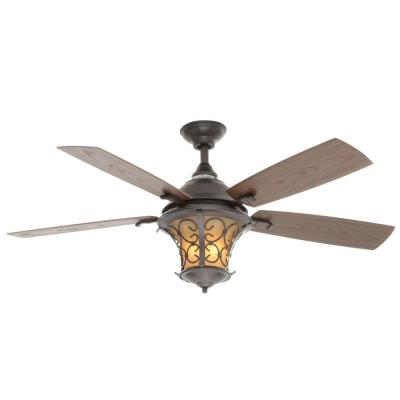 Veranda II 52 in. Natural Iron Indoor/Outdoor Ceiling Fan