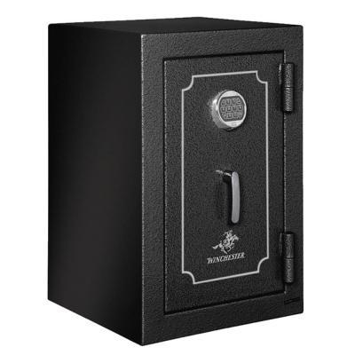 Winchester Safes Home and Office 7 Black Gloss Safe with Electronic Lock and Power Port