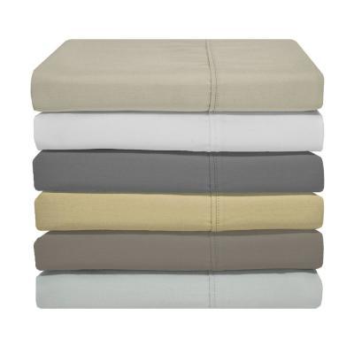 Optimum Solid 1200-Thread Count Cotton Blend Sheet Set