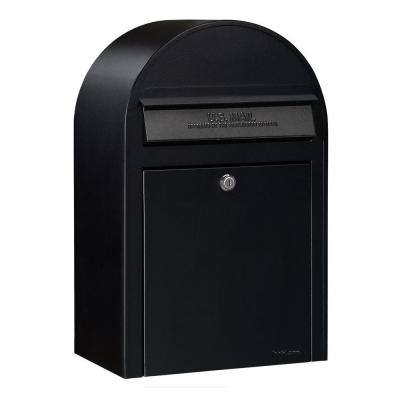 Black Wall Mount Security Mailbox Product Photo