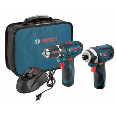 Bosch 12 Volt Lithium-Ion Cordless Drill/Driver and Impact Driver Combo Kit (2-Tool)