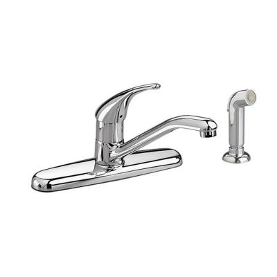 Colony Soft Single-Handle Standard Kitchen Faucet with Side Sprayer in Polished