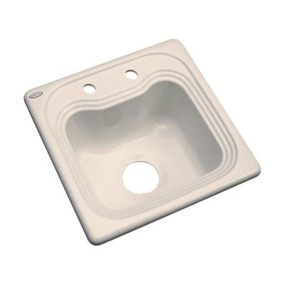 Thermocast Oxford Drop-In Acrylic 16 in. 2-Hole Single Bowl Entertainment Sink in Candle Lyte
