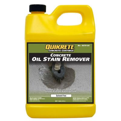 1 gal concrete oil stain remover 867006 the home depot for Remove grease from concrete