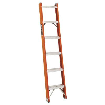 Louisville Ladder 6 ft. Fiberglass Shelf Ladder with 300 lb. Load Capacity Type IA Duty Rating