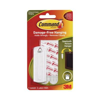 Command 5 lb. White Plastic Sawtooth Picture Hanger