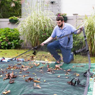 Premium Black Rectangle Pool Leaf Net