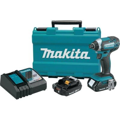 Makita 18-Volt Compact Lithium-Ion 1/4 in. Cordless Impact Driver Kit