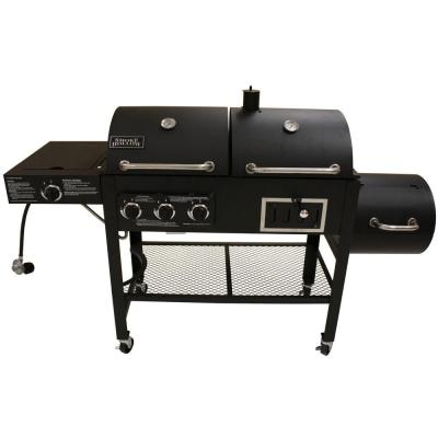 Triple Function Propane Gas/Charcoal Grill and Smoker