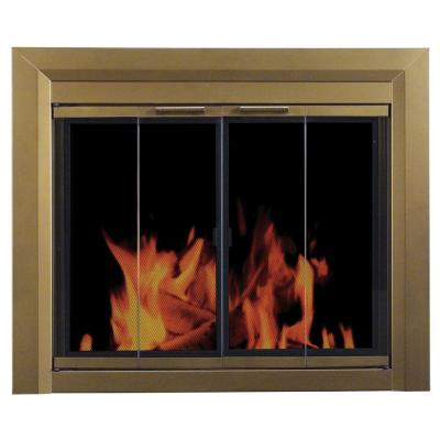 Pleasant Hearth Carrington Large Glass Fireplace Doors
