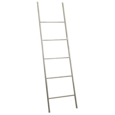 null Forma 60 in. Towel Ladder in Brushed Stainless Steel