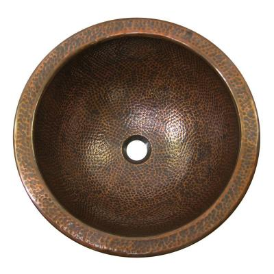 Drop-In Bathroom Sink in Antique Copper Product Photo