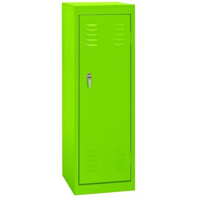 Sandusky 15 in. W x 15 in. D x 48 in. H Single Tier Welded Steel Locker in Electric Green