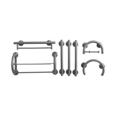 7-Piece SafeGrip Grab Bar Accessory Package in Brushed Nickel Product Photo