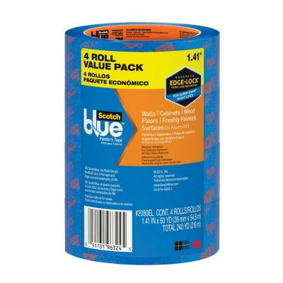 3M ScotchBlue 1.41 in. x 60 yds. Delicate Surface Painter's Tape with Edge-Lock (4-Pack)