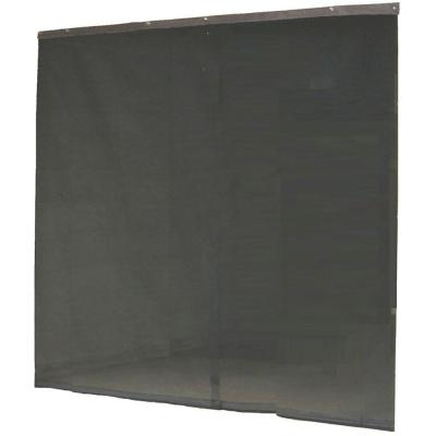 120 in. x 96 in. Instant Screen Black Garage Screen Door with hardware and roll-up accessory Product Photo