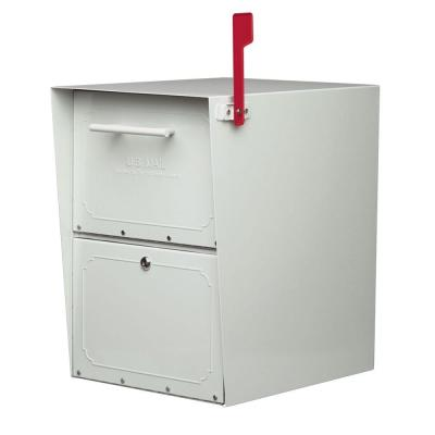 Oasis Jr. Post-Mount or Column-Mount Locking Mailbox in Pearl Gray