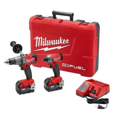 Milwaukee M18 Fuel 18-Volt Lithium-Ion Cordless Brushless Hammer Drill/Impact Driver Combo Kit