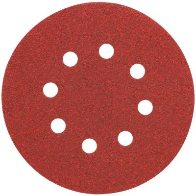 5 in. 8 Hole 80-Grit H and L Random Orbit Sandpaper